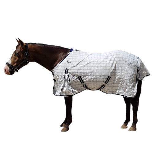 Blue Cotton Hybrid Ripstop Horse Rug